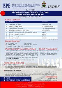ISPE Batch V 2017 Sumatera Barat